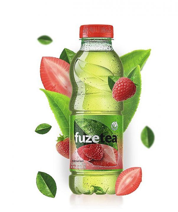 Чай Fuse tea 0,5л Зеленый Клубника/Малина Кока-кола