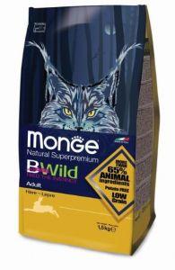 Monge BWild Cat Hare корм для взрослых кошек с мясом зайца 1,5 кг