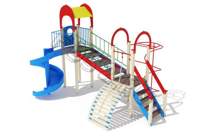 Детский игровой комплекс                           Рада Горка 2000                                           5930х4700х4000