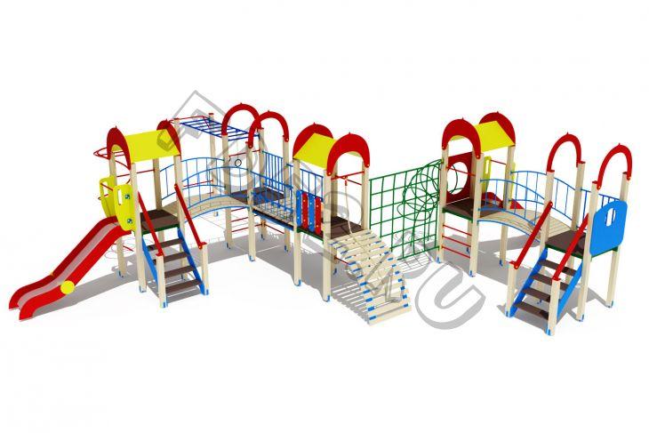 Детский игровой комплекс                           Солнышко Горка 1200                                           11030х9500х3000
