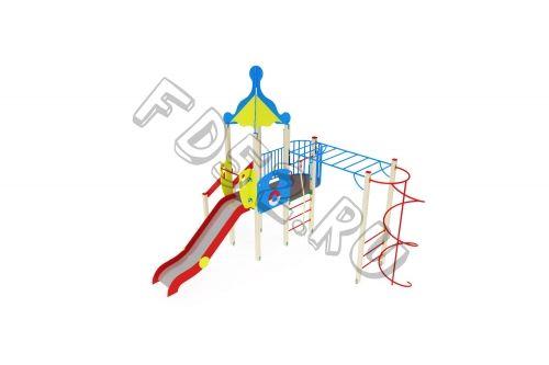 Детский игровой комплекс                           Морской Горка 1500                                           5114х5030х4220