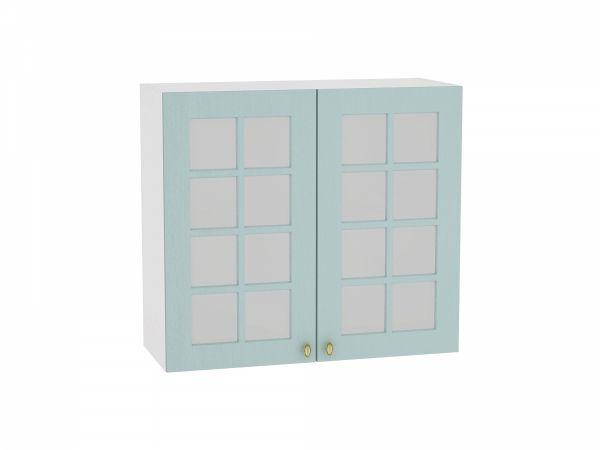 Шкаф верхний Прованс В800 со стеклом (голубой)