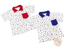 Сорочка с коротким рукавом с карманом C-SR425(k)-SUk