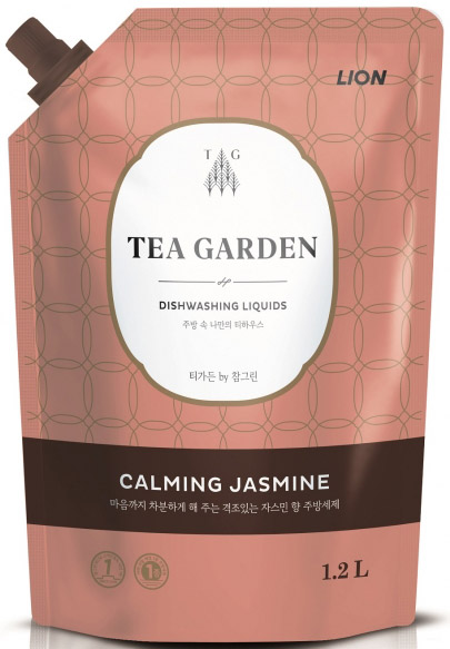 CJ Lion Средство для мытья посуды Chamgreen Tea Garden Жасмин мягкая упаковка 1250 г