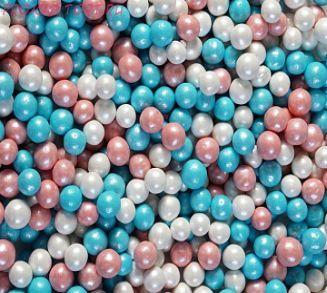 """Шарики сахарные """" Голубая Русалка """" ( d-5мм) перламутровый вес 50 гр."""