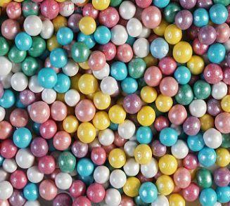 """Шарики сахарные """" Радуга детства  """" ( d-5мм) перламутровый вес 50 гр."""