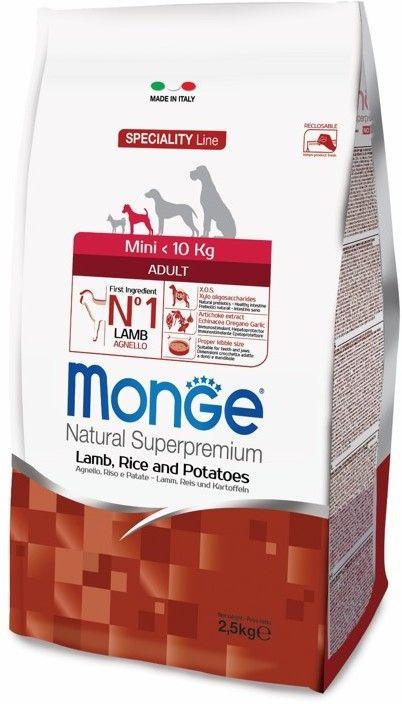 Monge Dog Speciality Mini корм для взрослых собак мелких пород ягненок с рисом и картофелем