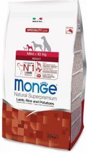 Monge Dog Speciality Mini корм для взрослых собак мелких пород ягненок с рисом и картофелем  800г