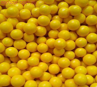 """Шарики сахарные """" Жёлтый принц"""" глянец (d-5мм) вес 50 гр."""