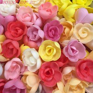 Вафельные цветы Роза МАЛАЯ 10шт./уп.