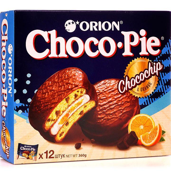 Печенье Чокопай Chocochip  с кусочками шоколада 360г (12шт)