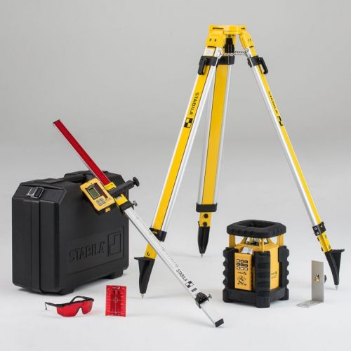 Ротационный лазерный нивелир STABILA LAR 350 + штатив BST-K-L + рейка NL