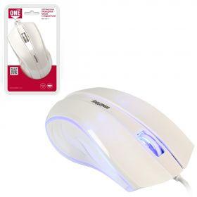 Мышь проводная ONE SBM-338-W белый SMARTBUY