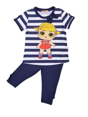 Костюм для девочек 3-7 лет Bonito BK1190KP темно-синий