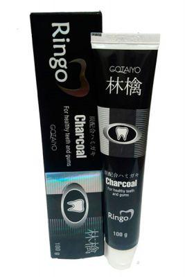 Gotaiyo Ringo Зубная паста отбеливающая Charcoal 100 гр