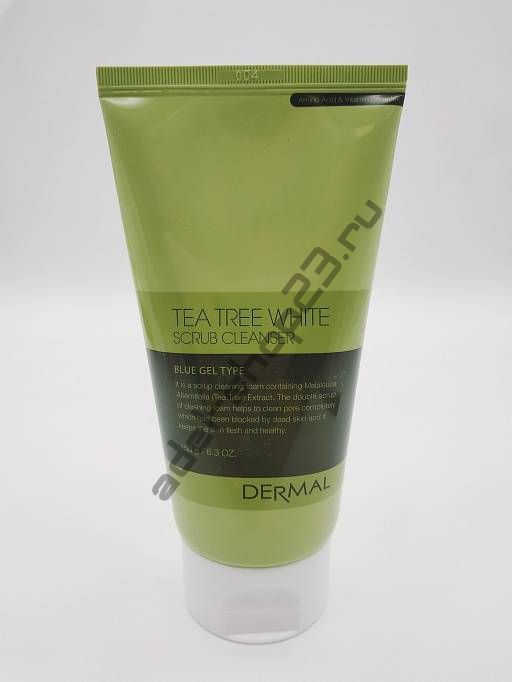 DERMAL - Пенка для умывания TEA TREE WHITE SCRUB CLEANSER, 150 гр