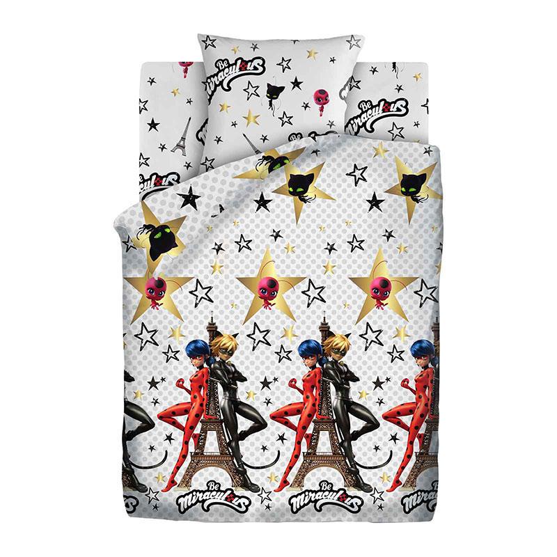 """Детское постельное белье """"Париж"""", рис. 16095-1-16096-1 (LadyBug), 1.5сп."""