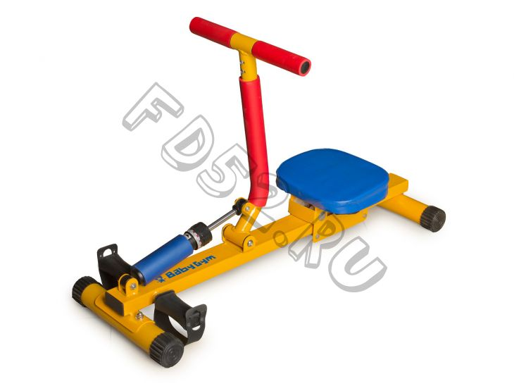 Детский гребной тренажер с одной рукояткой