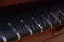 Накладка на задний бампер, Alufrost, в плёнке под карбон