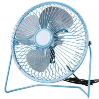 Настольный металлический USB-вентилятор Mini Fan, Цвет: Голубой