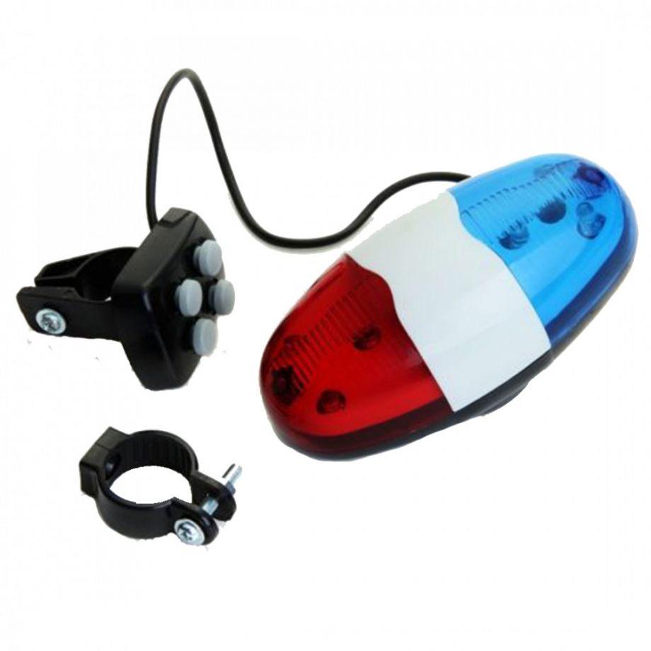 Полицейская сирена-гудок для велосипеда со светодиоидами Police Car Light Trumpet JY-326