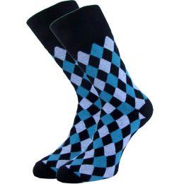 Мужские цветные носки  с418 мелкие ромбы 27-29