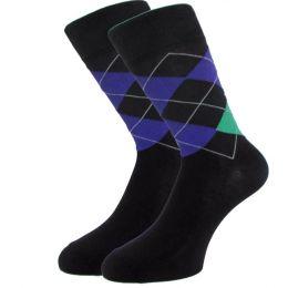 Мужские цветные носки  с418 крупный ромб 27-29