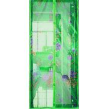 Дверная антимоскитная сетка с рисунком, 100х210 см, Цвет: Зелёный