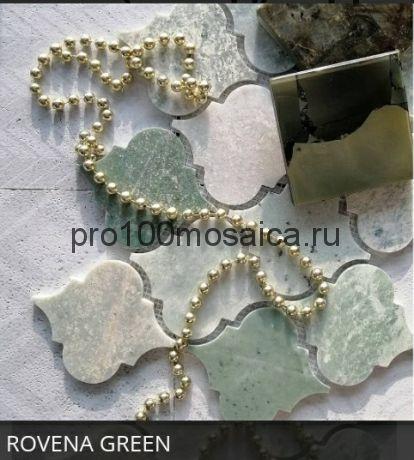 ROVENA GREEN. Мозаика мрамор,  размер, мм: 335*250*8 (ORRO Mosaic)