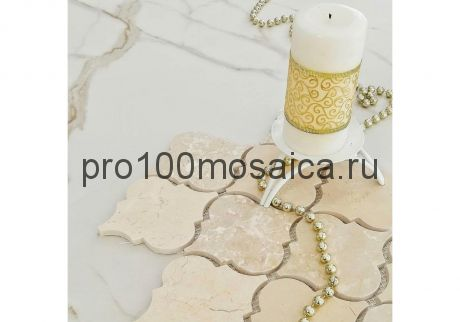 ROVENA LIGHT. Мозаика мрамор,  размер, мм: 335*250*8 (ORRO Mosaic)