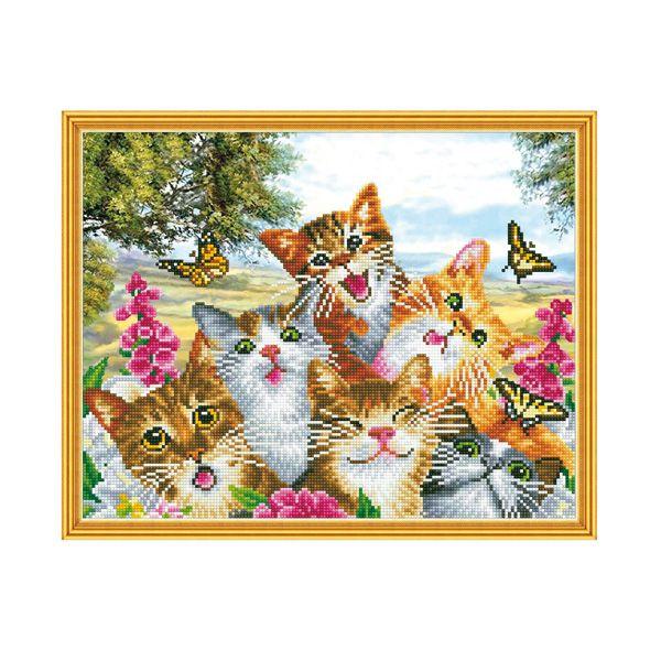 Набор Алмазная мозаика Веселая компания с рамкой 40*50см