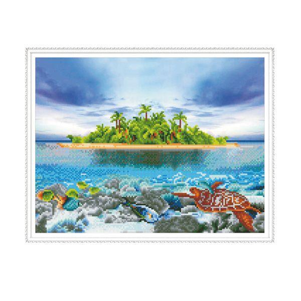 Набор Алмазная мозаика Остров с рамкой 40*50см