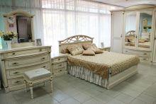 Кровать ЭЛЕГАНЦА 160*200 с подъемным механизмом эмаль