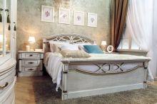 Кровать ЭЛЕГАНЦА 180*200 с изножьем эмаль