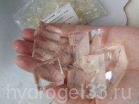 прозрачные кубики гидрогеля