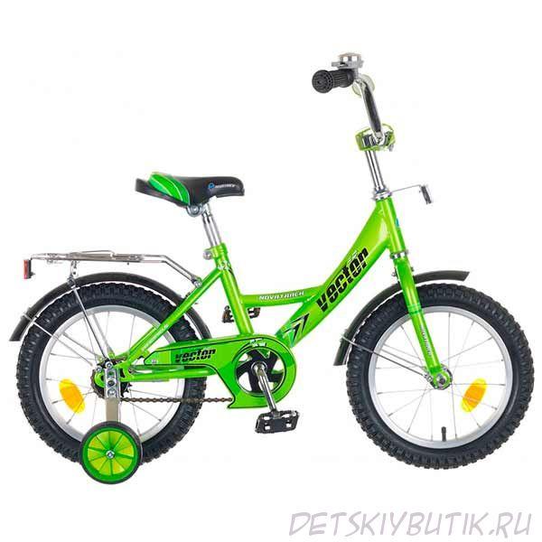 """Велосипед детский NOVATRACK VECTOR 16"""" (2018), зеленый"""