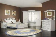 Спальня ЭЛЕГАНЦА белый с перламутровой патиной 4-дверный шкаф