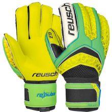 Вратарские перчатки Reusch Re:Pulse Prime G2 Ortho-Tec жёлто-салатовые