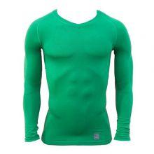 Термокофта Nike Pro Combat Lightweight Seamless зелёная