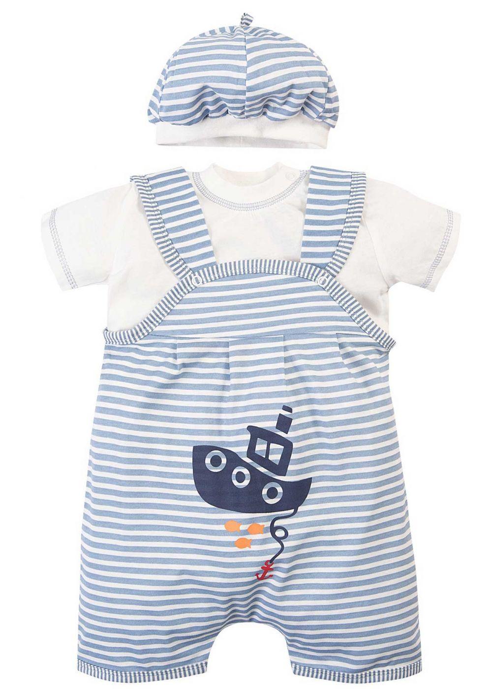Комбинезон для новорожденных комплект Bonito кораблик