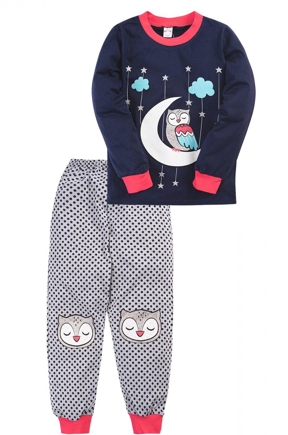 Пижама для девочки Bonito синий, совёнок