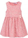 Сатиновое платье на девочки Bonito персиковое в цветочек