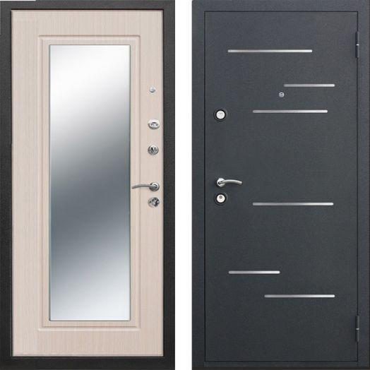 Входная дверь Версаль зеркало 9 см (беленый дуб)