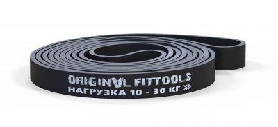 OriginalFitTools - Эспандер ленточный, окр. 208 см, толщ. 4,5 мм, шир. 22 мм. 10-30 кг. (черный)