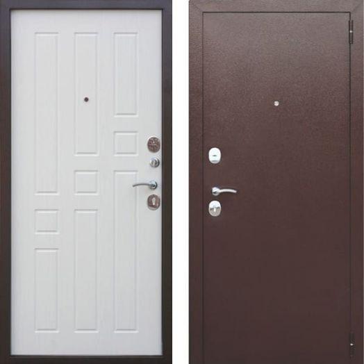 Входная дверь ГАРДА МУАР 8 мм (белый ясень)
