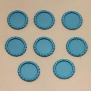 БРАК Крышка, материал металл, внутренний диаметр 25 мм, наружный 31 мм, цвет №01 (1 уп = 24 шт)