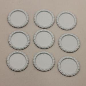 БРАК Крышка, Материал металл, Внутренний диаметр 25 мм, наружный 31 мм, цвет №20 белый (1 уп. = 24 шт)
