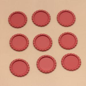 БРАК Крышка, Материал металл, Внутренний диаметр 25 мм, наружный 31 мм, цвет №26 (1 уп. = 24 шт)