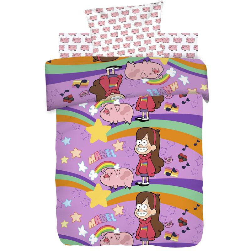 """Детское постельное белье """"Мэйбл и Пухля"""", рис.8902+8903 (Гравити Фолз), 1.5сп."""