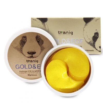 Патчи для кожи вокруг век и области рта BRANIG «GOLD & EFG» Hydrogel Eye & Spot Patch (60 штук)